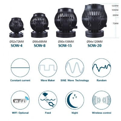 Jebao SOW-15 sine wave pump